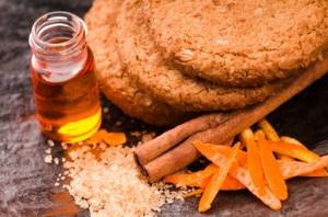 Cookies with cinnamon and orange